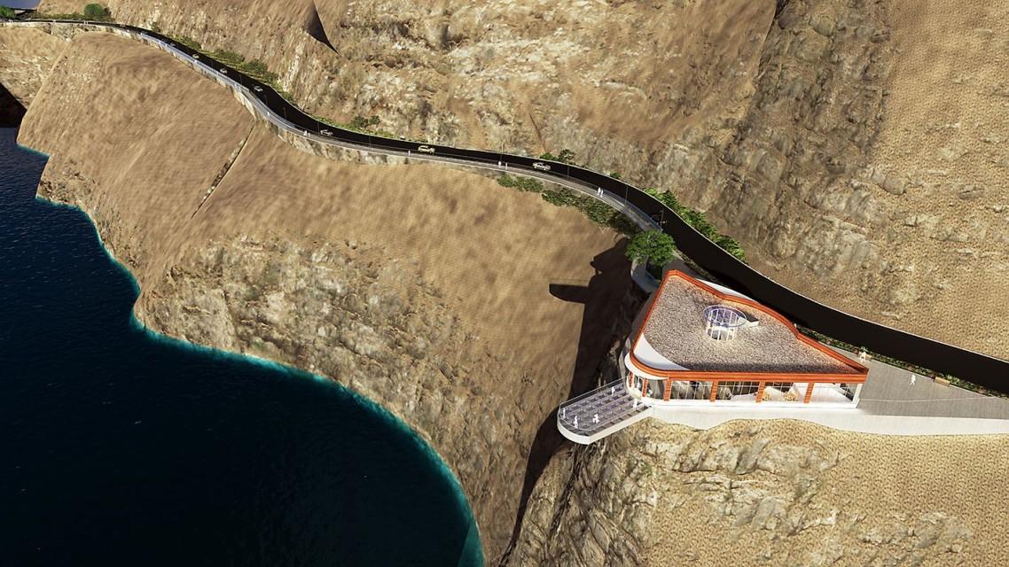 تركيا.. بناء شرفة زجاجية مطلة على بحيرة وشلالات شرقي تركيا   ترك برس