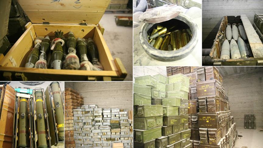شاهد.. العثور على أسلحة إيرانية وأمريكية في مستودعات ضخمة بعفرين